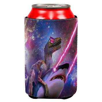 Velociraptor Laser Shark in Space All Over Can Cooler