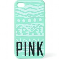 Victoria's Secret PINK Soft iPhone® 5/5S Case NEON GREEN AZTEC + BONUS VS Decal