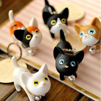 Unisex Kitty Cat Key Chains Keyrings HandBags Pendant Ornament Gifts Toys