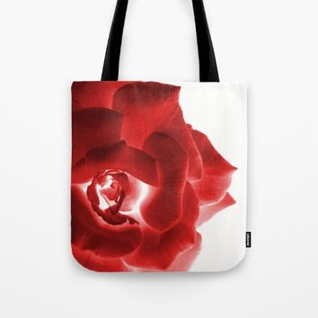 Red Rose Tote Bag by ARTbyJWP