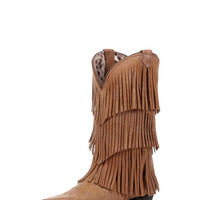 Dingo Women's Tres Fringe Boot - Tan