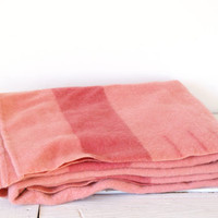 Pink Wool Blanket // Stripe