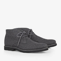 CHUKKA BOOT - WOOL BLEND from EXPRESS