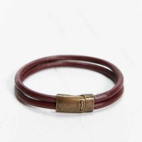 Profound Aesthetic Double Leather Bracelet-