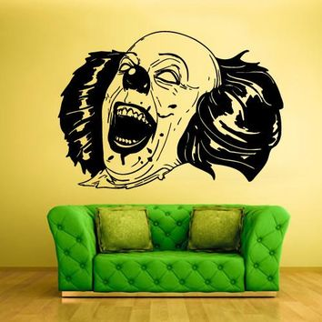 Wall Vinyl Decal Sticker Bedroom Decal Clown Funnyman Horror Harlequin Funster z346