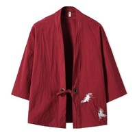 new Embroidery Japanese Yukata Jacket for man size mlxl