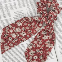 Lola Red Floral Scrunchie & Scarf