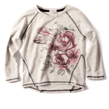 Appaman Terrestrial Bouquet Adler Tee in Speckled Cloud