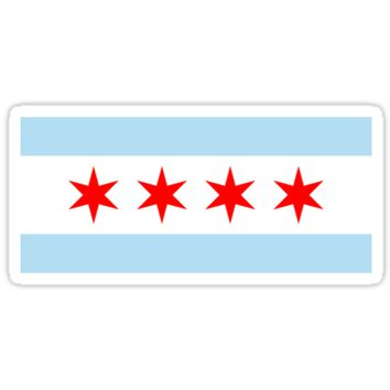 'Chicago Flag Normal' Sticker by DarienBecker