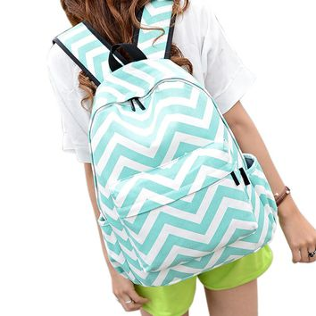 New Fashion Casual Women Double-Shoulder Canvas Backpack
