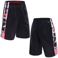 Men's Shorts Basketball Training Short Pants With Pocket Flower Print Cool Sport Running Shorts Gym Clothing Polyester Jogger