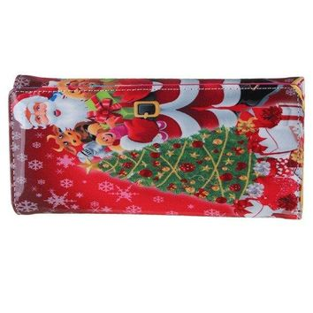 Christmas Cute Wallet Lovely Checkbook Long Wallet
