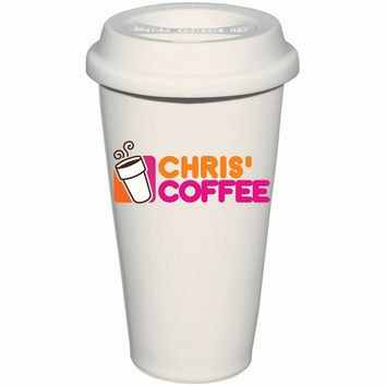 Personalized Dunkin Donuts Inspired Coffee Mug, Custom Inspired Dunkin Coffee Thermos, Custom Travel Mugs, Custom Hot Liquid To Go Cup