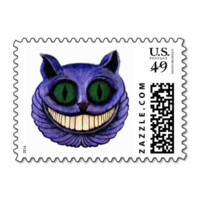 CHESHIRE CAT 1 (Alice in Wonderland theme) ~ Stamps