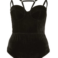 Velvet Strappy Body - New In This Week - New In - Topshop