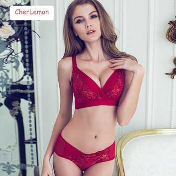 Lace Embroidered Bra Brief Sets