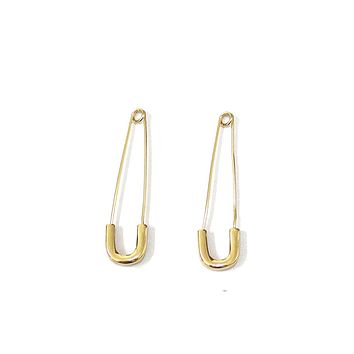 Punk AF Safety Pin Earrings