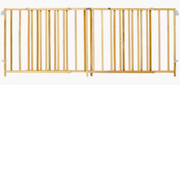 """North States Extra-Wide Swing Pet Gate Wood 60"""" - 103"""" x 27"""""""