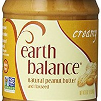 Earth Balance Vegan Gluten Free Nut Butter, Creamy Peanut, 16 oz