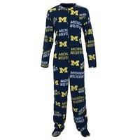 University of Michigan Wolverines Wildcard Union Suit Footed Pajamas