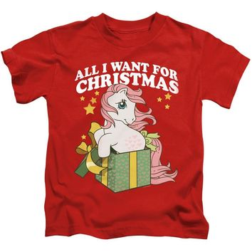 My Little Pony Boys T-Shirt All I Want for Christmas Red Tee