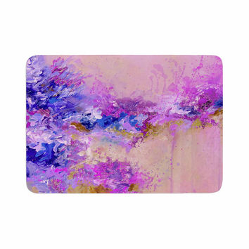 "Ebi Emporium ""When Land Met Sky 2"" Purple Pink Memory Foam Bath Mat"