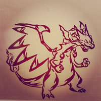 Pokemon Mega Charizard X Vinyl Decal Sticker