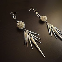Long Silver Earrings - Handmade Jewelry, Earrings For Women, Unique Jewelry