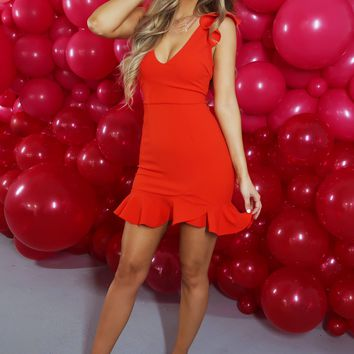 Heart Breaker Dress: Red