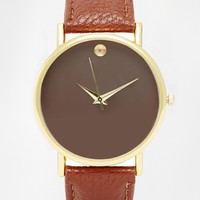 Reclaimed Vintage Brown Strap Watch