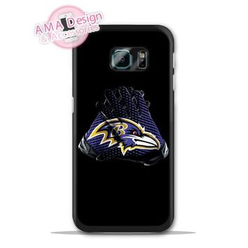 Baltimore Ravens Football Glove Case For Galaxy S8 S7 S6 Edge Plus S5 S4 mini active Ace Win S3 Core Note 4 2