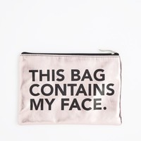 Contains My Face Metallic Makeup Bag | Beauty Tools | rue21