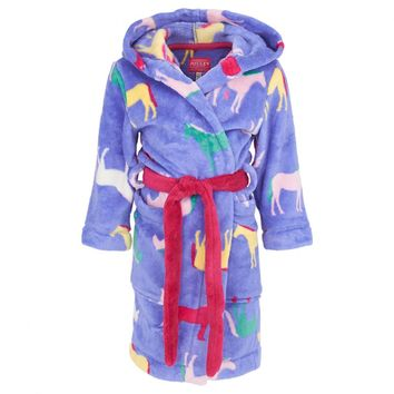 Purple Horse Print Bathrobe
