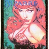"""Bizarre"" Sexy Woman Lingerie Model Portrait Artist Olivia Page Iron On Applique Patch"