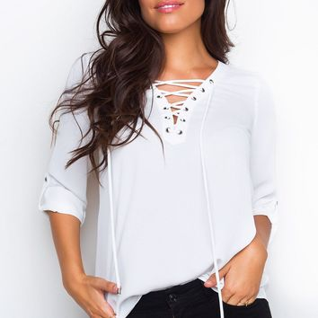 Newsworthy Top - Ivory