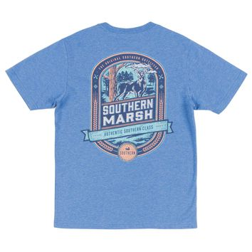 Southern Marsh, Youth Genuine Collection Tee - Deer Hunting, Washed Oxford Blue