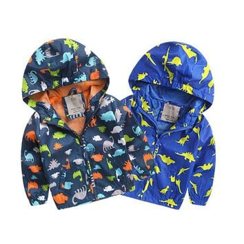 Baby Boy Autum Winter Jackets Long Sleeve Softshell Jacket Kids Active Hooded Coat 2-6 Years S2