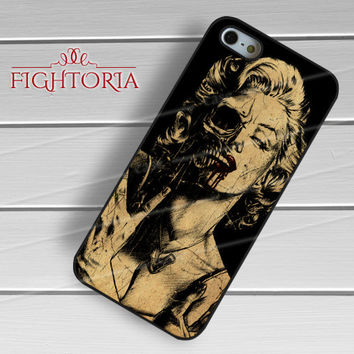 Vintage Marilyn Monroe skull - zzZzz for  iPhone 4/4S/5/5S/5C/6/6+s,Samsung S3/S4/S5/S6 Regular/S6 Edge,Samsung Note 3/4
