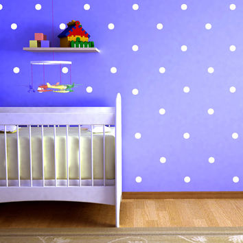45 Polka Dots Wall Decal Art Decor Dot Girls Room Wall Decals