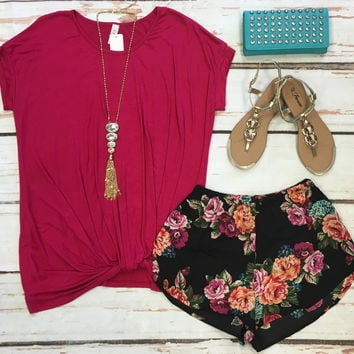 Knotted Top: Pink