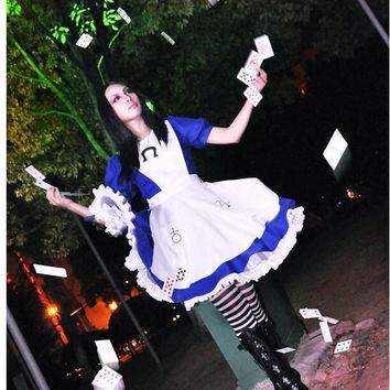Alice Madness Returns cosplay costume halloween costumes for women girls any size can Custom made