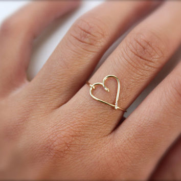 Gift - Gold Heart Ring