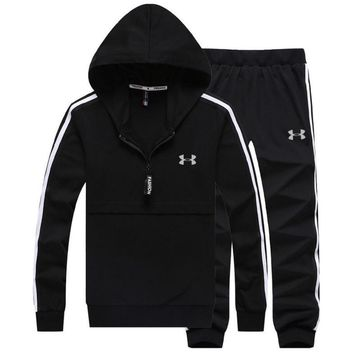 Under Armour PRINT HOODIE TOP AND TWO PIECE SUIT BLACK Tagre™