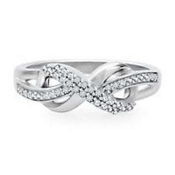 Infinity X Infinity™ Diamond Ring in Sterling Silver