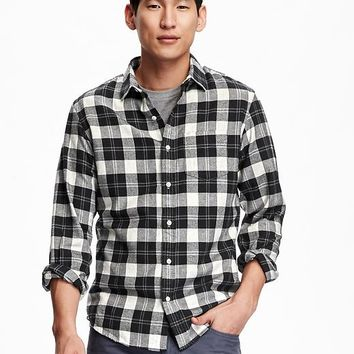Best black flannel shirts for men products on wanelo for Mens slim fit flannel shirt