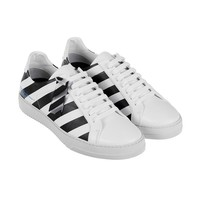 Indie Designs Off White Inspired Black and White Stripes Sneakers