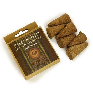 Palo Santo Traditional Incense Cones - Power & Purification - 6 Cones