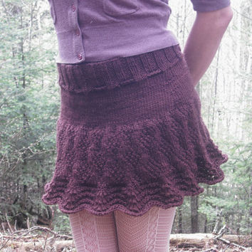 Ruffle Mini Skirt Victorian Fairy Hand Knitted Skirt Ready To Ship