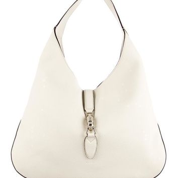 Gucci Jackie Soft Leather Large 362968 (off White) Hobo Bag
