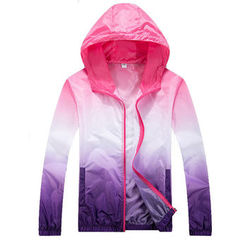 2016 Brand Spring Ultra-Light Outdoor Sport Jacket Men Women Hit the Color Waterproof Quick-Dry Clothes Skinsuit Outwear, EDA200